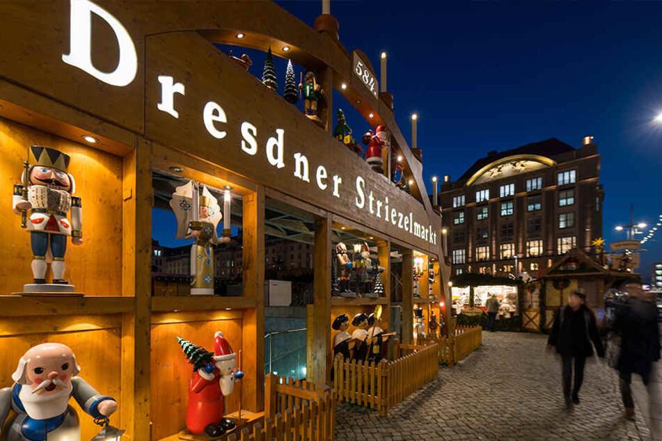 Der Striezelmarkt hat Heiligabend letztmalig geöffnet.