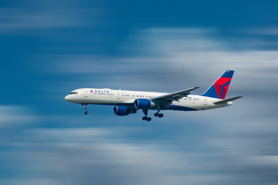 The crew of the Delta Air Lines flight noticed an indicator warning of a possible problem with one of its engines (stock image).