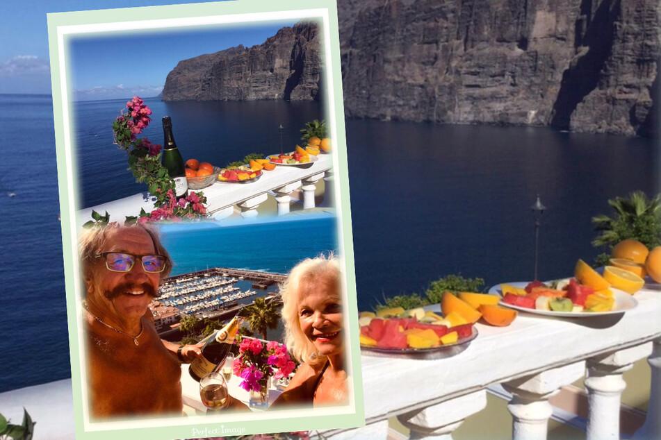 """Sechs Wochen selbst gewähltes """"Exil"""" für eine Auszeit auf Teneriffa: Dorit und Karl-Heinz lassen es sich in Acantilado de los Gigantes gutgehen."""