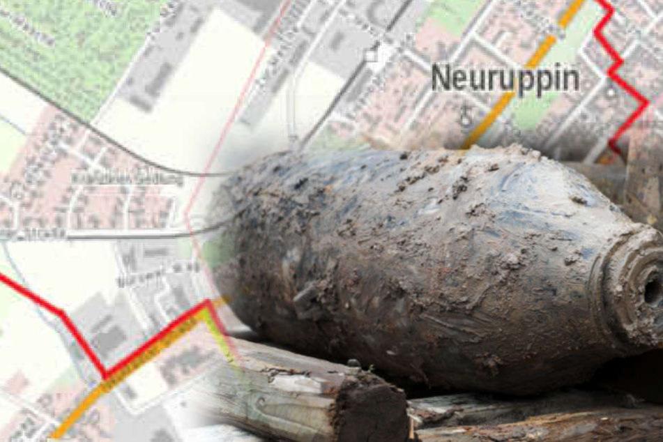 250-Kilo-Bombe: Evakuierung in Neuruppin hat begonnen