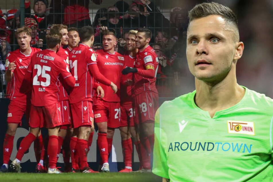 Durch das Pokalspiel in Verl ist Union-Keeper Rafal Gikiewicz angeschlagen. (Bildmontage)