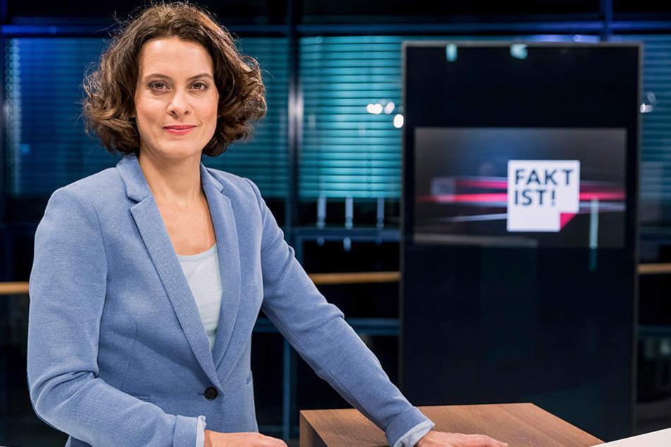 """Die Moderatorin der Sendung """"Fakt ist"""" Anja Heyde."""