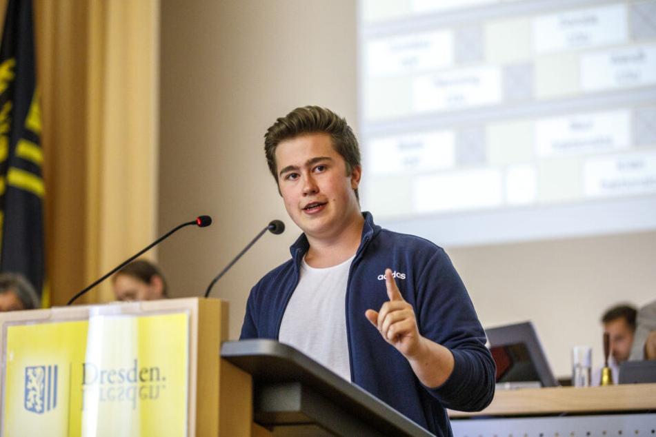 Las den Stadträten die Klima-Leviten: Professoren-Sprössling Willi Patzelt (18).