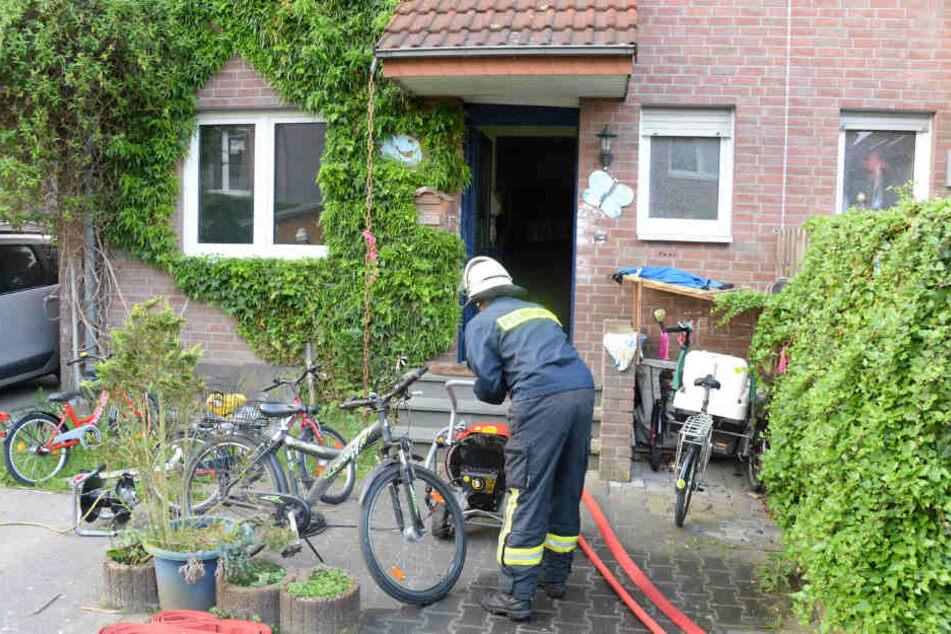 Die Doppelhaushälfte musste nach dem Feuer belüftet werden.