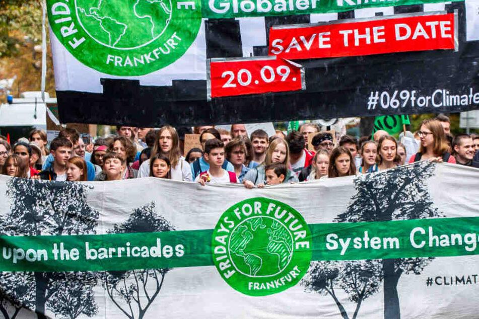 Schon am zurückliegenden Samstag demonstrierte die Fridays for Future-Bewegung in Frankfurt.