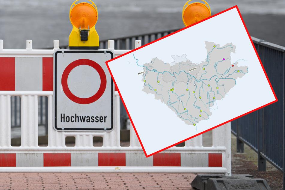 Für die Sebnitz und im Bereich der Polenz wurden die Hochwasser-Alarmstufen 3 und 4 erreicht (Symbolbild).