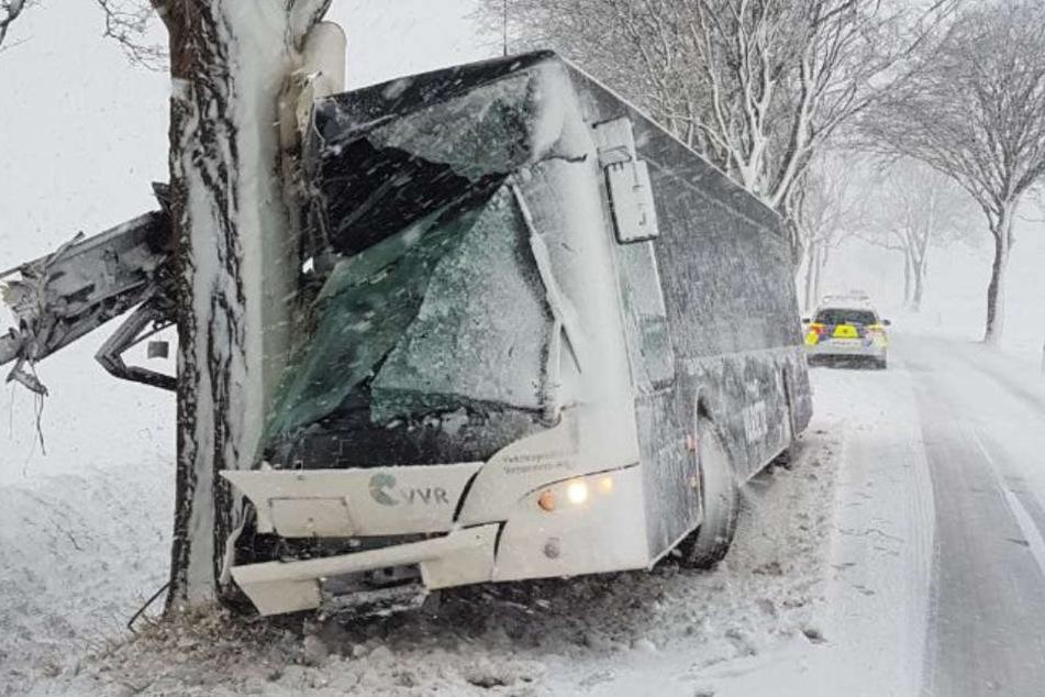 Der viele Schneefall sorgte für zahlreiche Verkehrsunfälle.