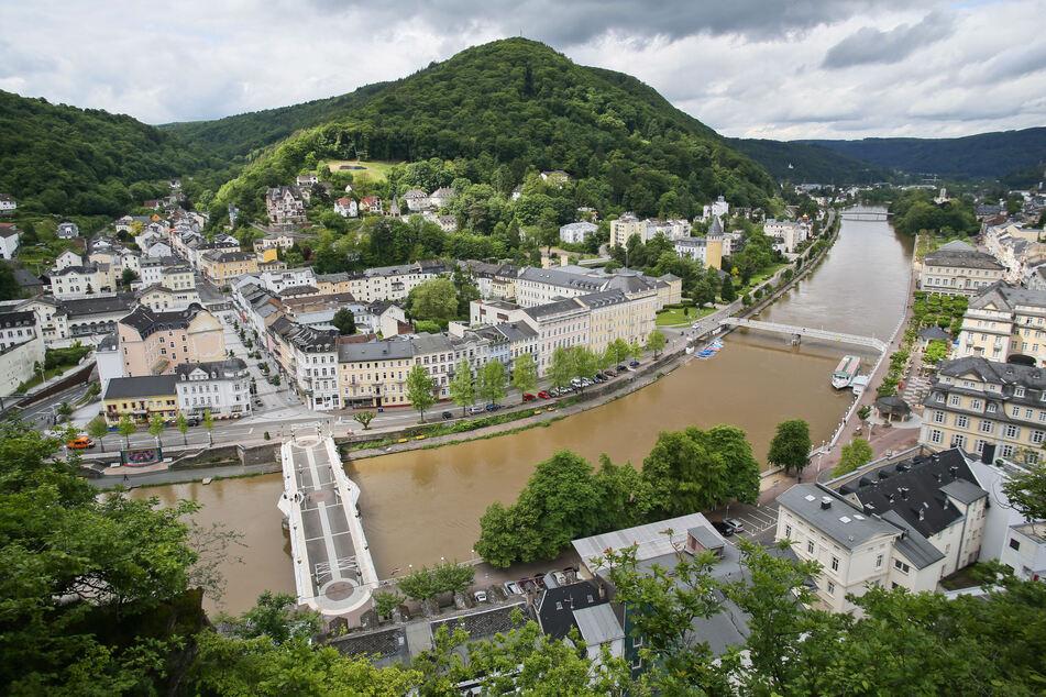 Der Kurort Bad Ems in Rheinland-Pfalz.