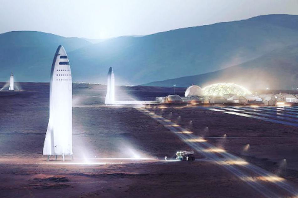 Das US-Raumfahrtunternehmen SpaceX plant eine Siedlung auf dem Mars.