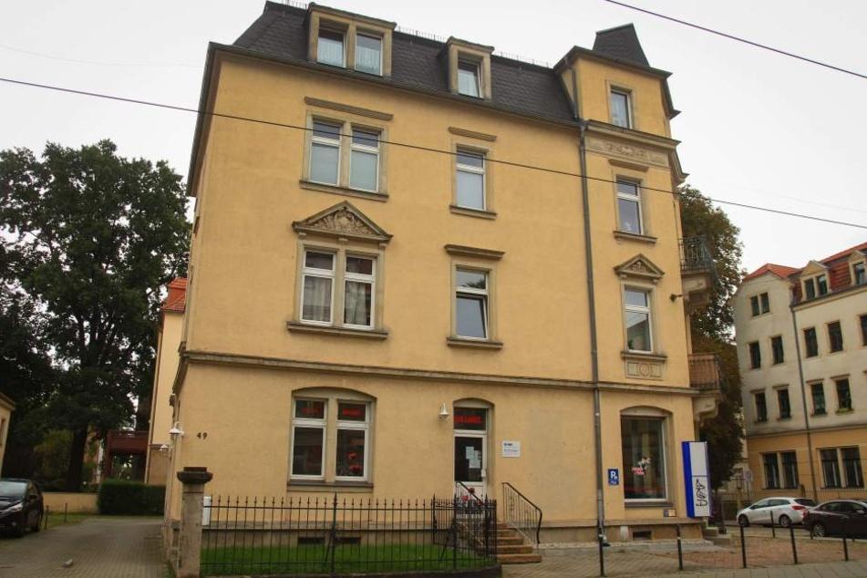 Das Parteibüro von Die Linke in Dresden-West.
