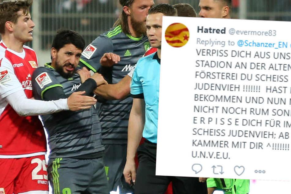 Der israelische Fußballspieler Almog Cohen (zweiter v.l.) erhielt im Spiel gegen Union Berlin eine rote Karte. Danach wurde er von einem Fan antisemitisch beleidigt.