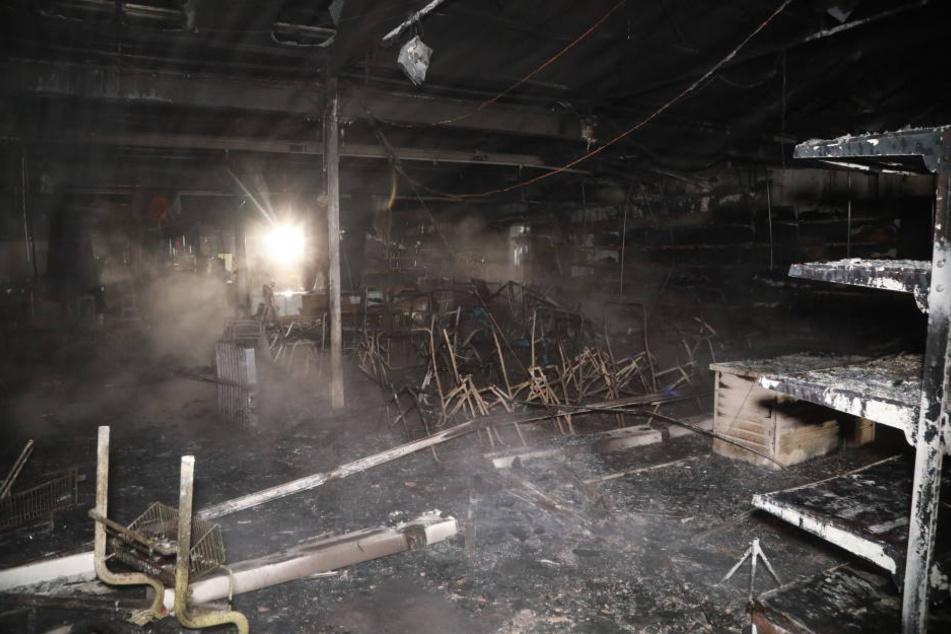 Der Brand zerstörte Teile des Centers.