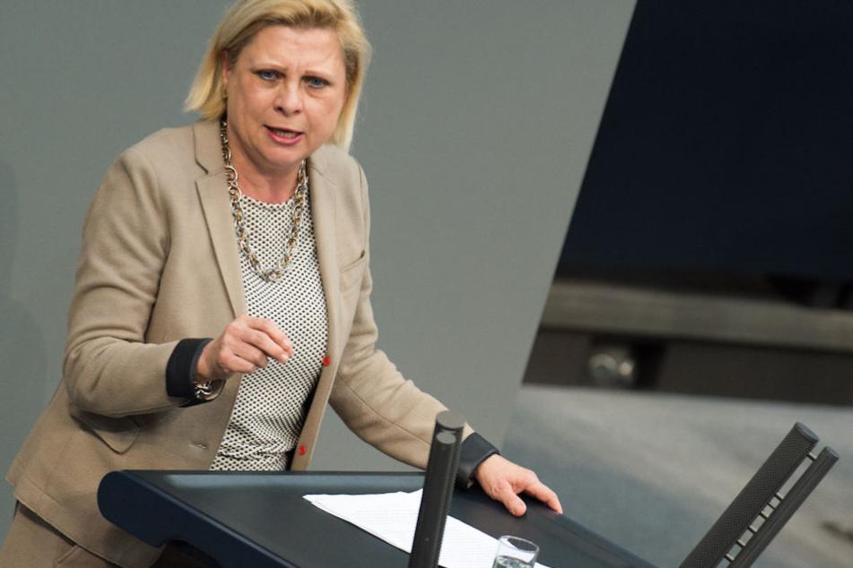 Hilde Mattheis (64) bei einer Rede im Deutschen Bundestag. (Archiv)