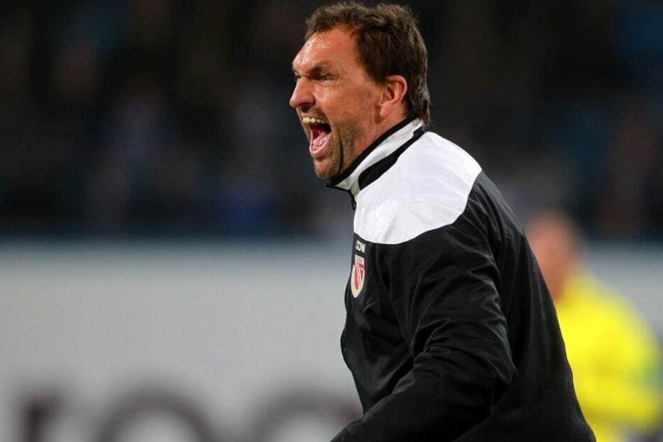 Claus-Dieter Wollitz fordert einen aggressiven Auftritt gegen Preußen Münster.