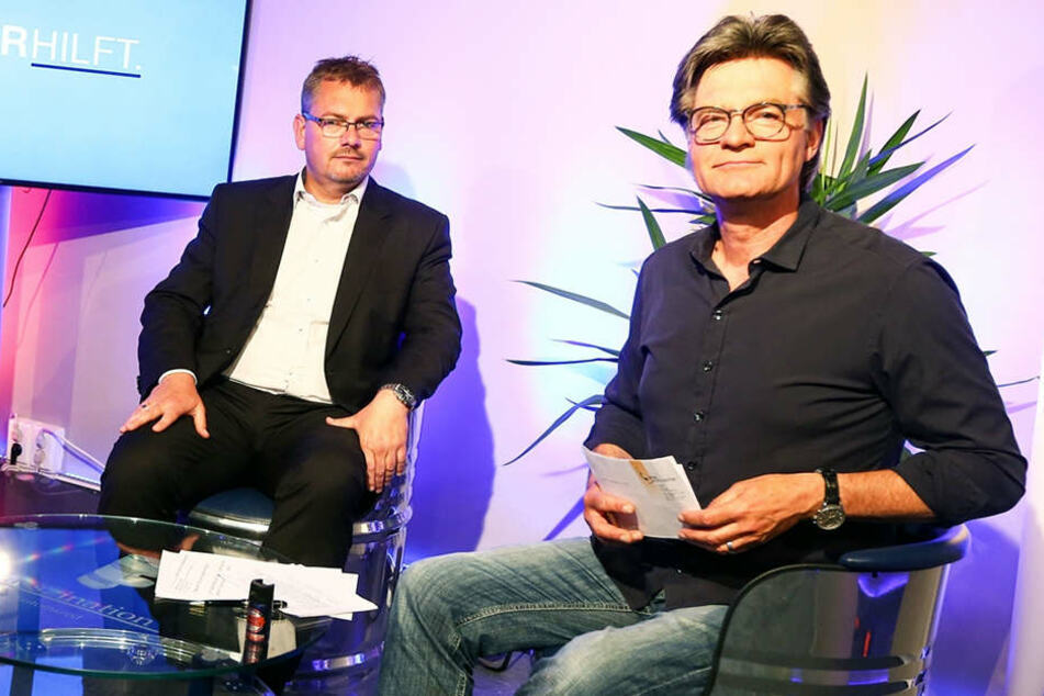 Ein Bild aus guten Tagen: Anwalt Frank Hannig (li.) und TV-Moderator Peter Escher (re.).