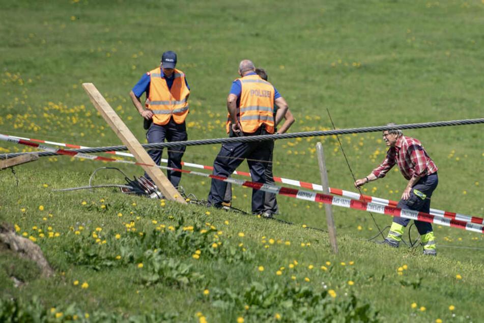 Das Unglück ereignete sich nach seinen Angaben auf der Gerschnialp rund 35 Kilometer südlich von Luzern am Vierwaldstättersee.