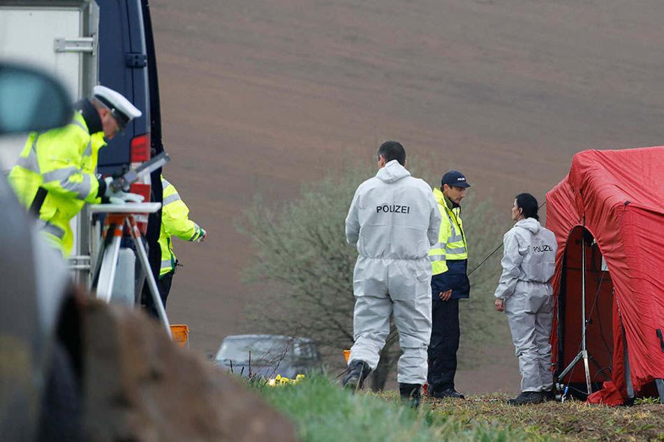 Auf diesem Feld fand man frühmorgens die Leiche des Chemnitzer Familienvaters.