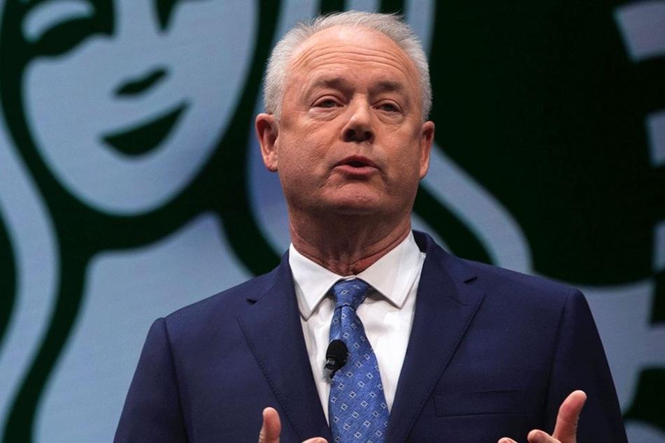 Starbucks Präsident und CEO Kevin Johnson (57).