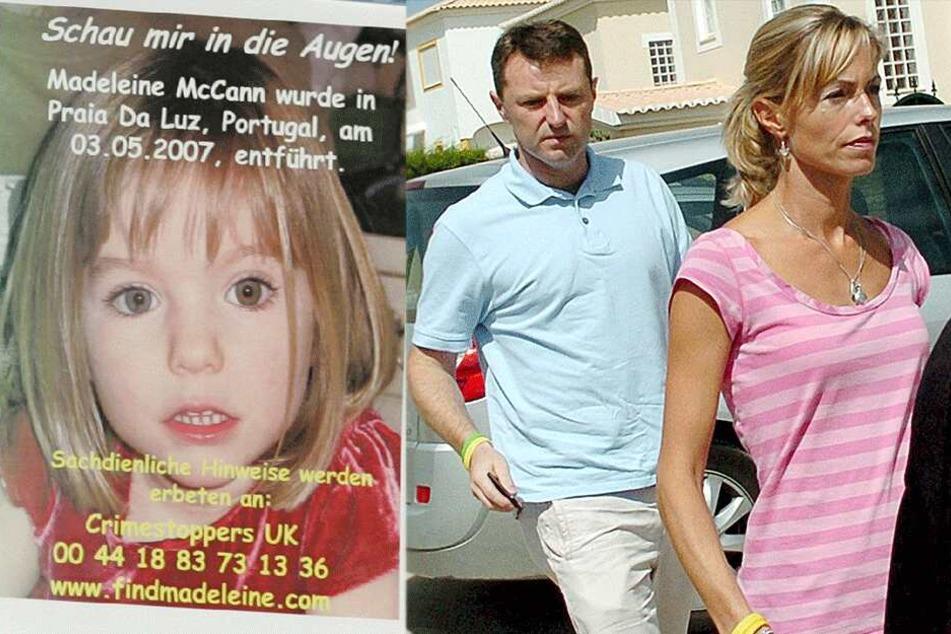 Kate und Gerry McCann hoffen noch immer, dass ihre Tochter Maddie wieder auftaucht (Archivbilder).