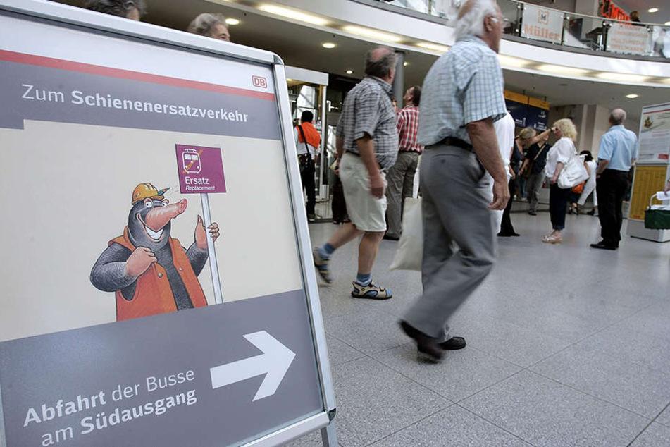 Die Deutsche Bahn rät, sich vor Fahrtbeginn über Änderungen zu informieren.