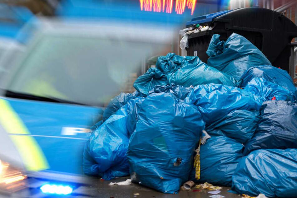 Wie kam das Tier in den Müllsack? (Fotomontage/Symbolbild)