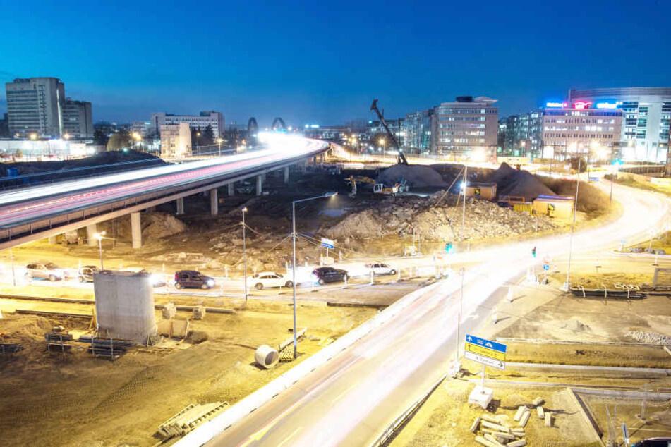 Noch wird am Kaiserlei-Kreisel viel gebaut. 2019 sollen die Bauarbeiten dann fertiggestellt sein.