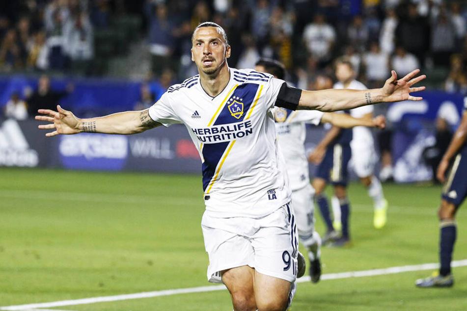 Zlatan Ibrahimovic führte seine Mannschaft als Kapitän mit einem Doppelpack zum Sieg.