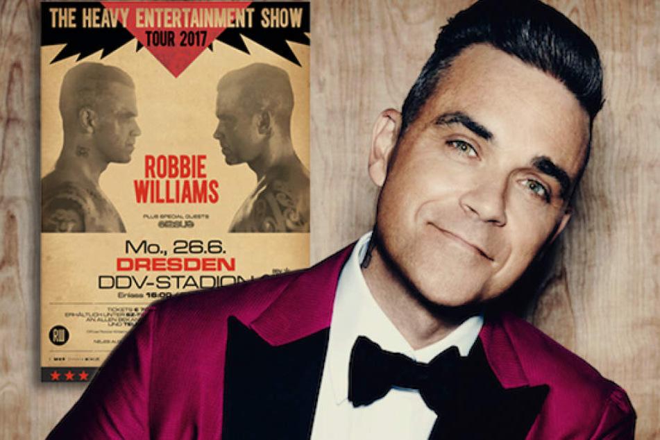 Ja, er will! Robbie Williams sagt Auftritt in Dresden zu