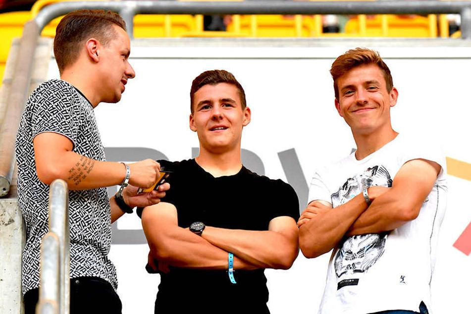 Niklas Hauptmann (r.) ist im Sommer zum 1. FC Köln gewechselt, seine Bruder Marius (19) gehört zum Profikader von Dynamo.