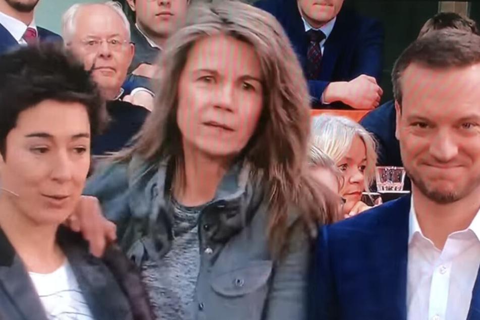 Die unbekannte Frau stürmte live die Bühne des ZDF Morgenmagazins.