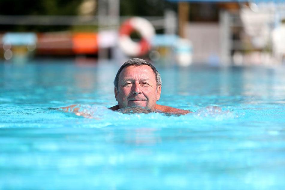Rentner Lutz Hille (67) ist extra aus Marienberg gekommen.