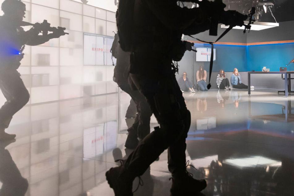 Eine Übung des LKA Sachsen fand direkt in der Leipziger MDR-Zentrale statt.