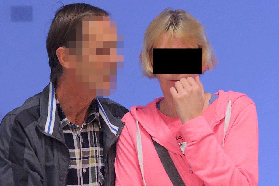 Annett P. (42, r.) gestern am Dresdner Amtsgericht.