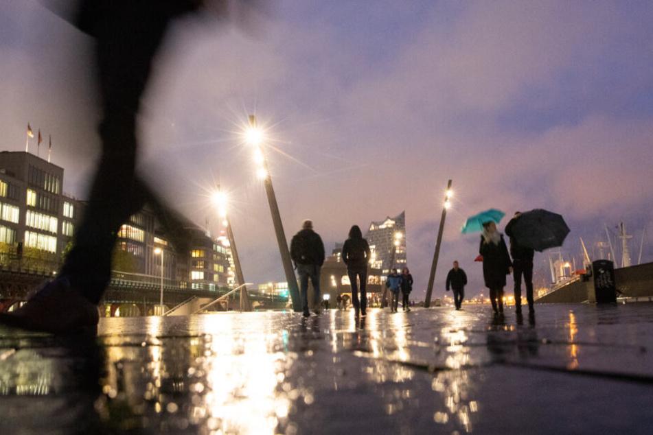 Daueranblick in Hamburg: Regen. (Archivbild)