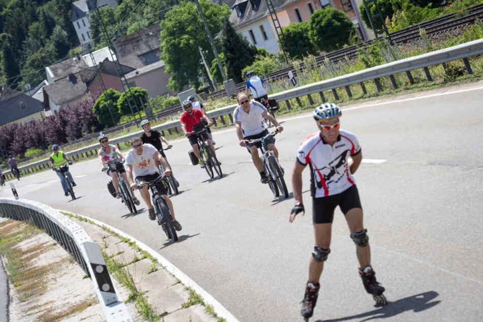 Bereits zum 26. Mal haben Radfahrer und Skater auf 120 Kilometern Strecke freie Fahrt.