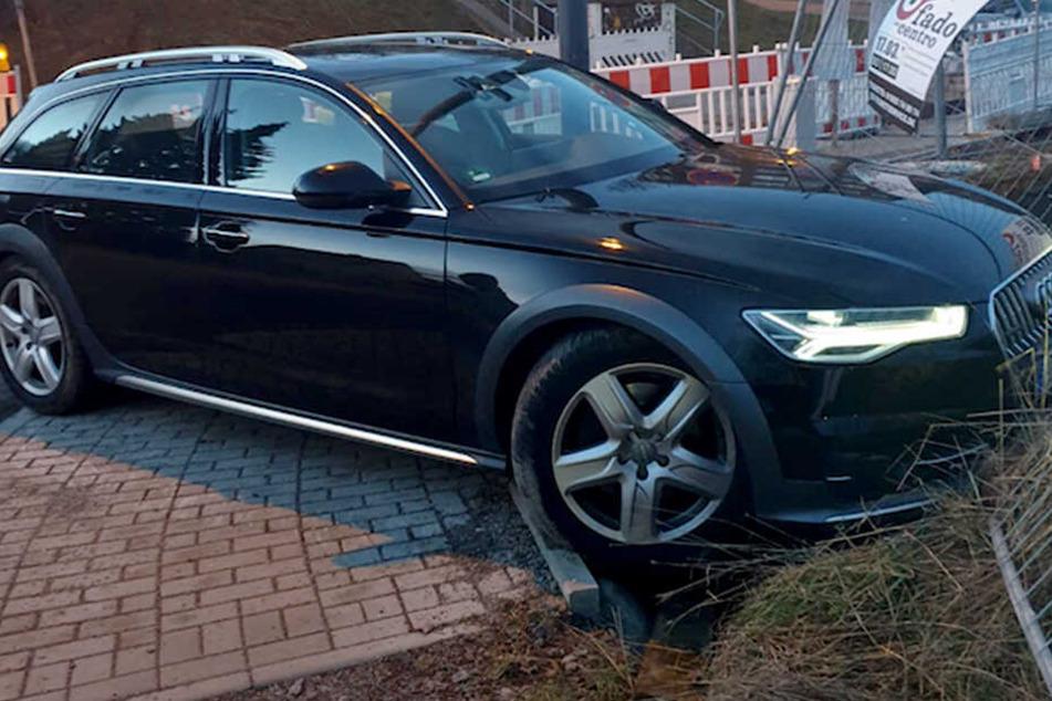 Der Audi war wenige Stunden vor der Kontrolle und der anschließenden Flucht in Hessen geklaut worden.