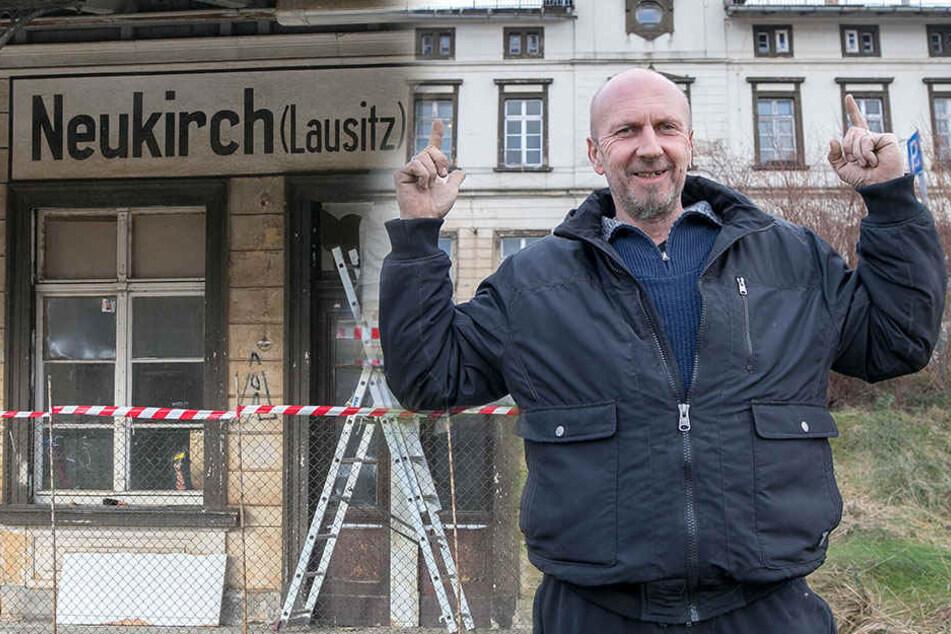 Von Malle in die Lausitz: TV-Auswanderer Jörg wohnt jetzt im Bahnhof