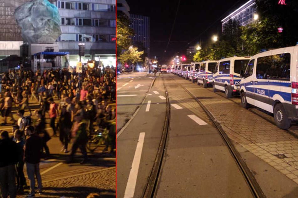 #wirsindmehr-Konzert in Chemnitz: Wieder Zwischenfälle an Brückenstraße, Polizei räumt Gedenkort