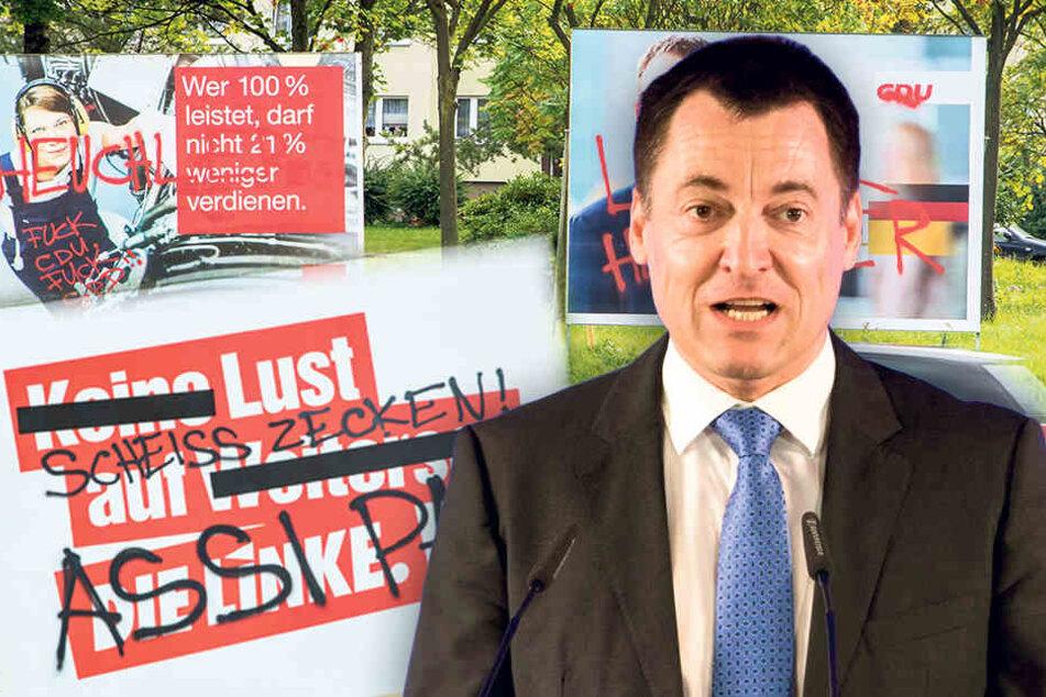 Tausende Plakate abgerissen: So groß ist die Zerstörungswut in Sachsen!
