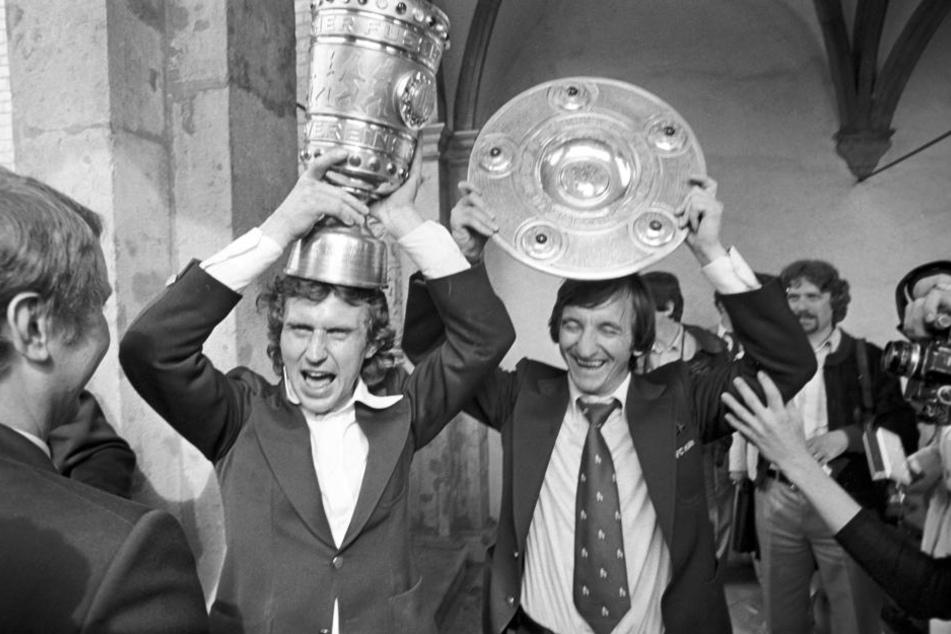 Das beste Jahr: Heinz Flohe und Hannes Löhr holten 1978 mit dem FC die Meisterschaft und den Pokalsieg.