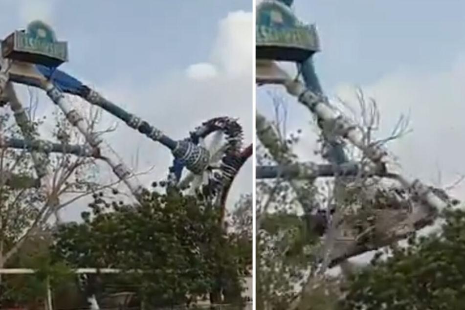 Ein Twitter-Video zeigt den schockierenden Unfall.