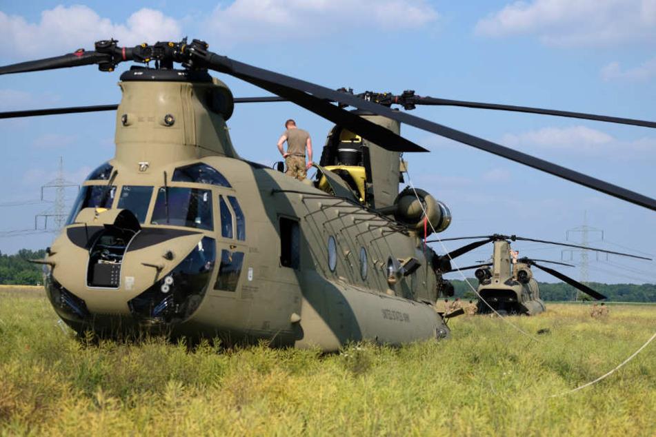 Der US-Army-Hubschrauber flog am Samstag weiter nach Bayern.