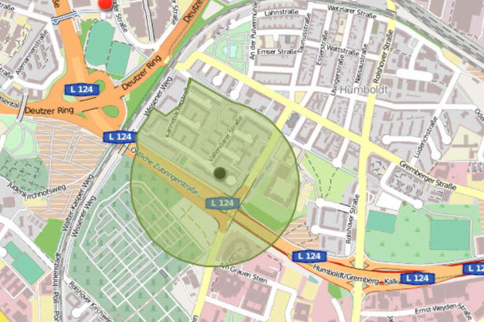 Die Karte zum Evakuierungs-Radius ist nun online.