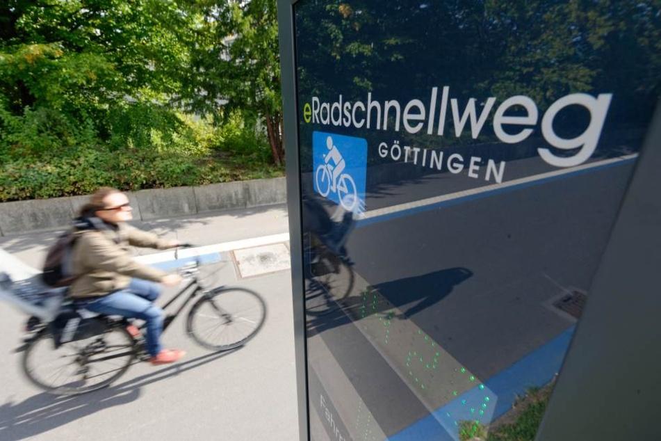 In Göttingensind die Radschnellwege längst Realität.
