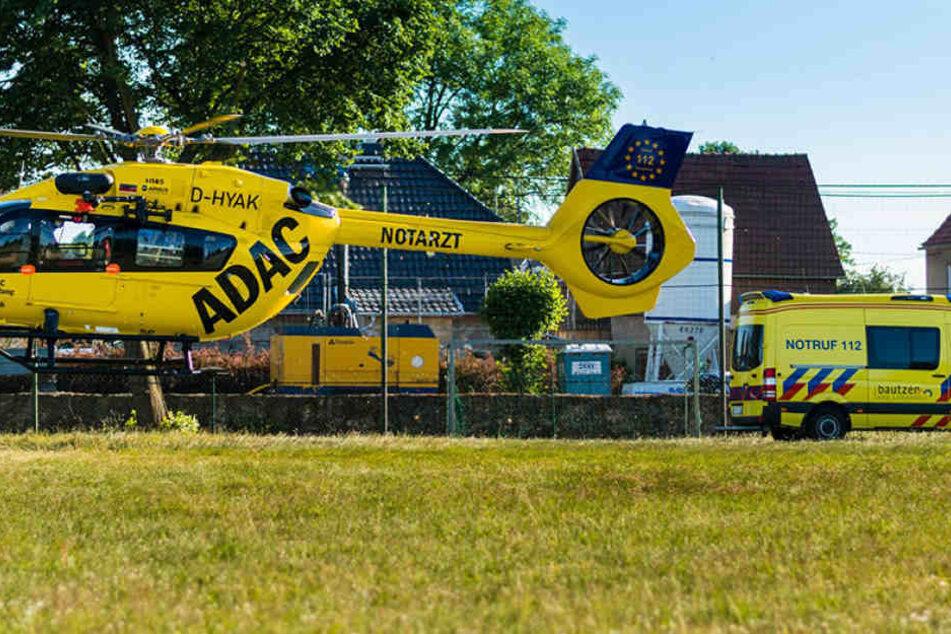 Einer der beiden Verletzten musste per Hubschrauber in eine Spezialklinik gebracht werden.
