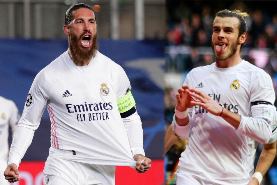 Sergio Ramos (34, l.) und Gareth Bale (31) sollen unter anderem auf der großen Real-Streichliste stehen.