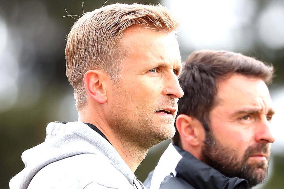 Trainer David Bergner (l.) und sein Co Sreto Ristic haben mit dem CFC eine erfolgreiche, aber auch intensive und nervenaufreibende Saison hinter sich.