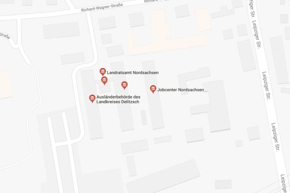 Der 19-Jährige wütete im Landratsamt Delitzsch in der Richard-Wagner-Straße.