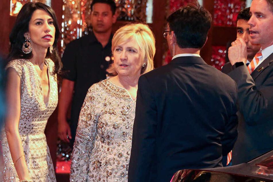 Unter den Hochzeitsgästen war auch Hillary Clinton (71).