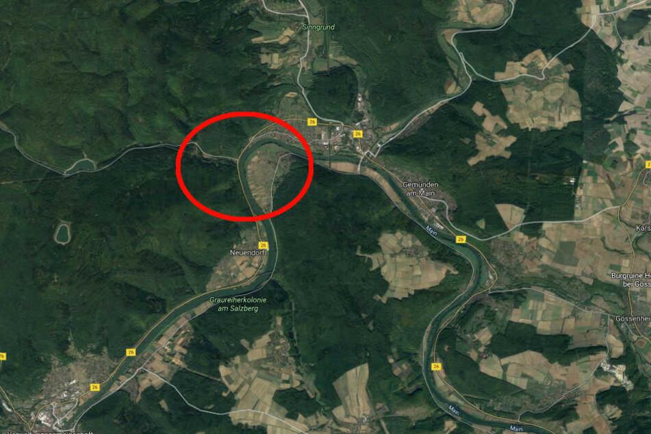 Der Unfall ereignete sich auf der Bundesstraße 26 in Höhe der Einmündung Ruppertshütten.